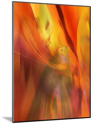 Red Heat Texture--Mounted Art Print