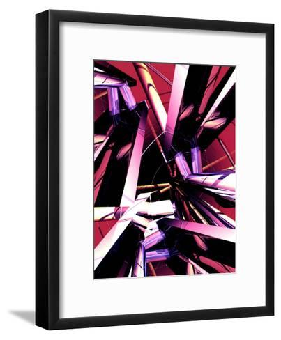 A High Tech Industrial Texture--Framed Art Print