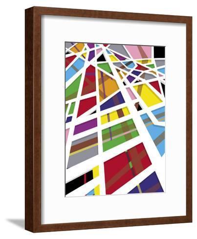 A Mosaic Shapes Texture--Framed Art Print