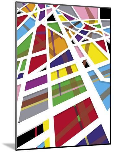 A Mosaic Shapes Texture--Mounted Art Print