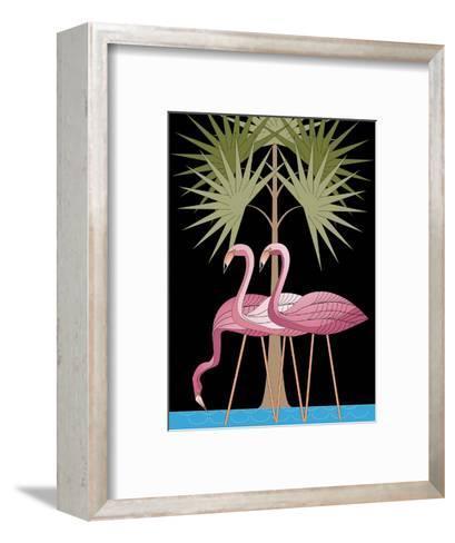 Three Pink Flamingos--Framed Art Print