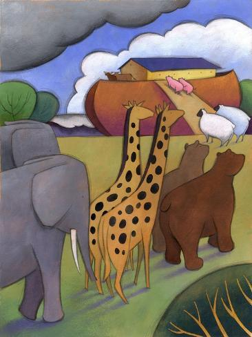 Noah's Ark--Stretched Canvas Print