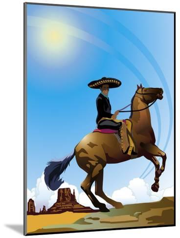 Mexican Caballero on Horseback, Grouped Elements--Mounted Art Print