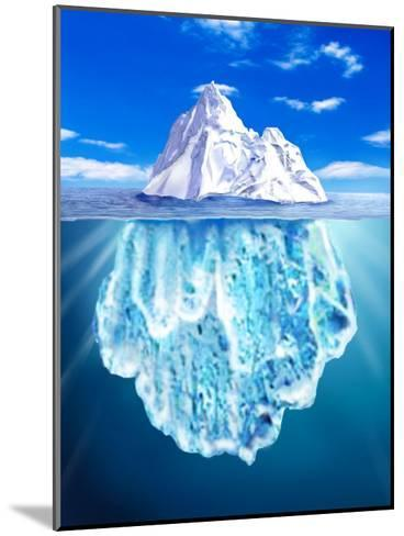 A View of an Iceberg from Above and Below Water--Mounted Art Print