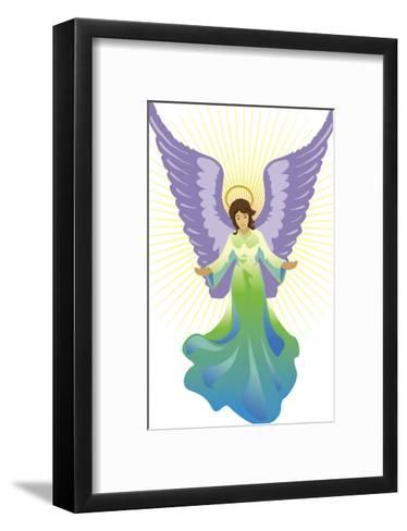 Angel Tree Topper, Grouped Elements--Framed Art Print