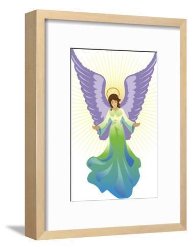 Angel Tree Topper, Grouped Elements--Framed Art Print