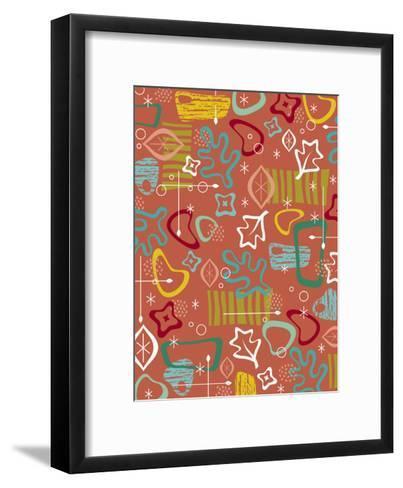 Texture, Retro Shapes--Framed Art Print