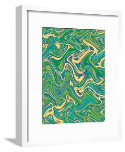 Texture, Wavy Water--Framed Art Print