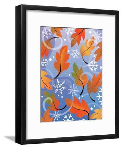 Texture, Autumn Turning to Winter--Framed Art Print