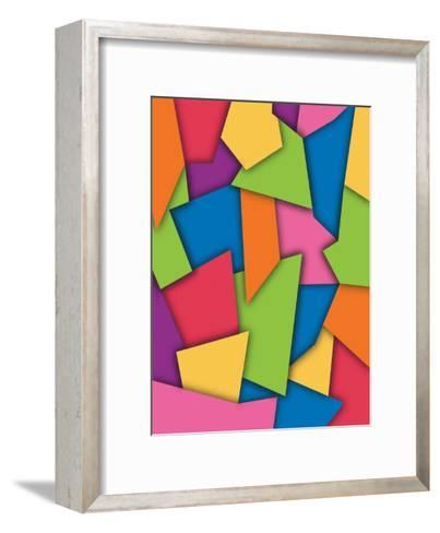 Texture, Abstract Scraps--Framed Art Print