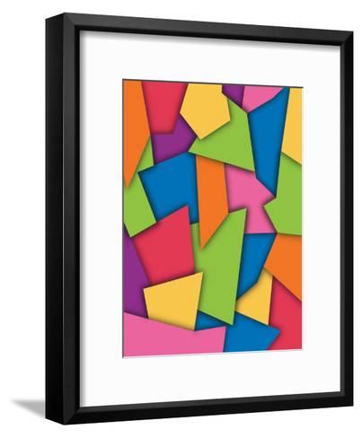 Texture, Abstract Scraps--Framed Art Print