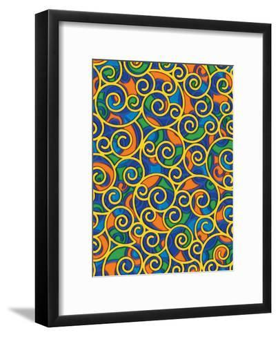 Texture, Swirls--Framed Art Print