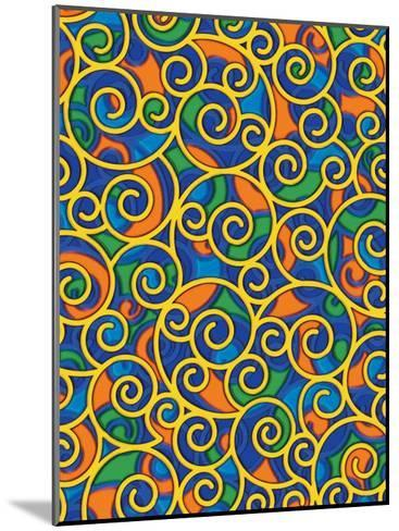 Texture, Swirls--Mounted Art Print