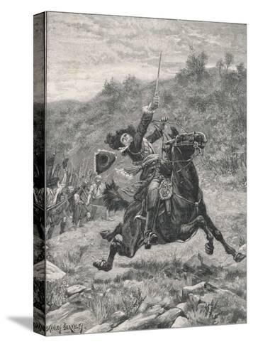 Jacobite Rising at Killiecrankie the Jacobites Defeat Mackay's Royalist Army-Stanley Berkeley-Stretched Canvas Print