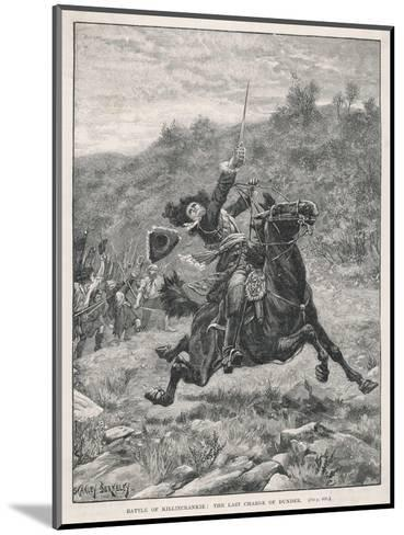Jacobite Rising at Killiecrankie the Jacobites Defeat Mackay's Royalist Army-Stanley Berkeley-Mounted Giclee Print