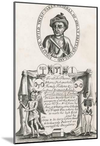 Jonathan Wild the Thief and Thief Taker Who was Executed at Tyburn in 1725--Mounted Giclee Print