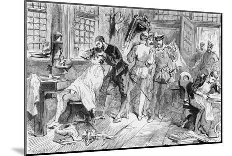 Ambroise Pare French Surgeon Began His Career as an Apprentice Barber-Surgeon in Paris- Figuier-Mounted Giclee Print