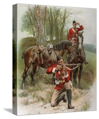 Mounted Infantry-Frank Dadd-Stretched Canvas Print