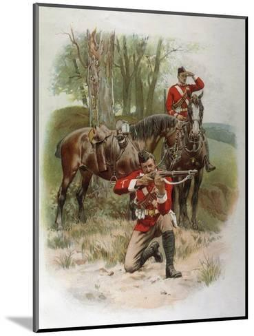 Mounted Infantry-Frank Dadd-Mounted Giclee Print