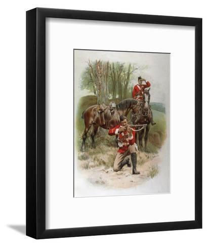 Mounted Infantry-Frank Dadd-Framed Art Print