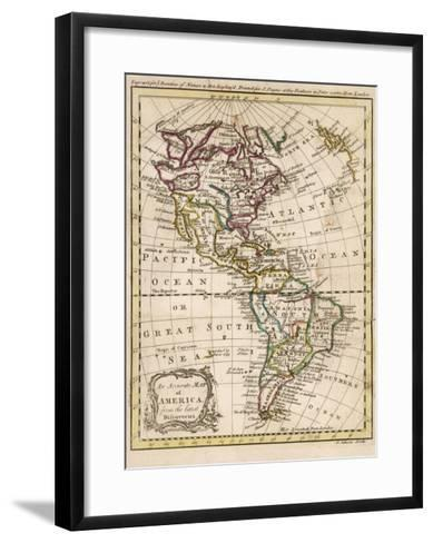 Map of North and South America-J^ Gibson-Framed Art Print