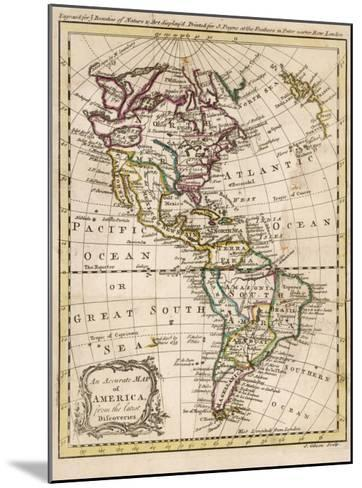 Map of North and South America-J^ Gibson-Mounted Giclee Print