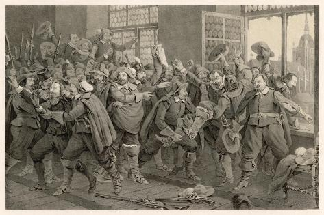Defenestration of Prague-C^a^ Dahlstrom-Stretched Canvas Print