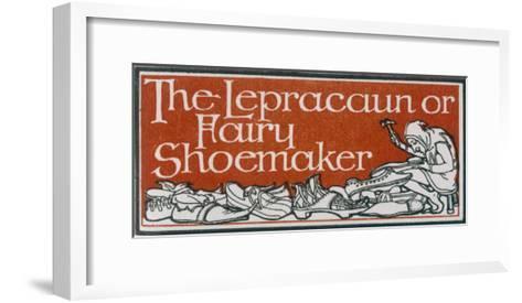 An Irish Leprechaun or Fairy Shoemaker-George Denham-Framed Art Print