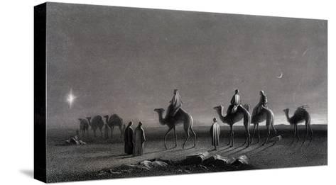 Jesus' Birth Magi Follow Star Across the Desert-R. Brandard-Stretched Canvas Print