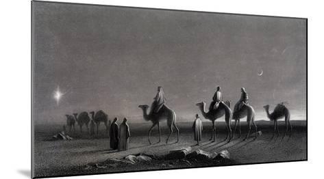 Jesus' Birth Magi Follow Star Across the Desert-R. Brandard-Mounted Giclee Print