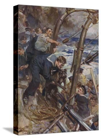 Bulldog Rescued-Cyrus Cuneo-Stretched Canvas Print