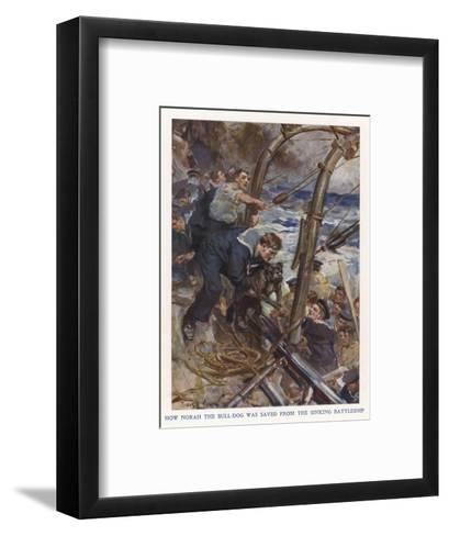 Bulldog Rescued-Cyrus Cuneo-Framed Art Print