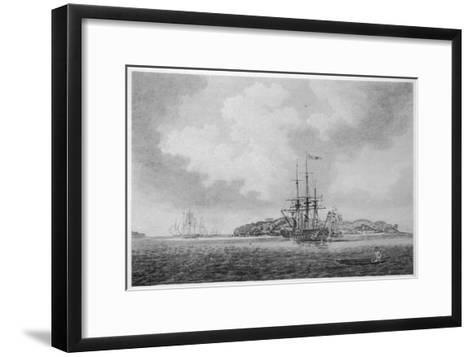 The First English Fleet Sails into Botany Bay-R. Clevely-Framed Art Print