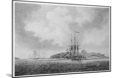 The First English Fleet Sails into Botany Bay-R. Clevely-Mounted Giclee Print
