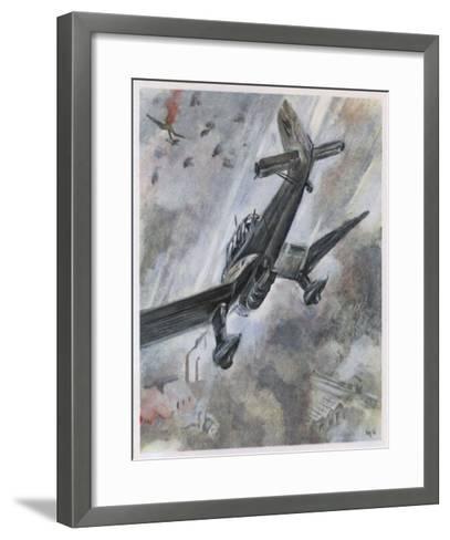 """Stuka"" Dive-Bombers of the Luftwaffe in Action-A^w^ Diggelmann-Framed Art Print"