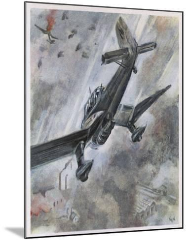 """""""Stuka"""" Dive-Bombers of the Luftwaffe in Action-A^w^ Diggelmann-Mounted Giclee Print"""