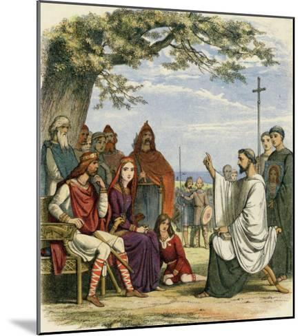Augustine Preaching Christianity to Ethelbert 1 King of England-James Doyle-Mounted Giclee Print