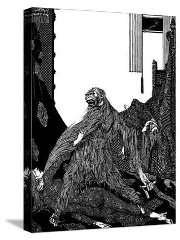 The Murders in the Rue Morgue-Harry Clarke-Stretched Canvas Print