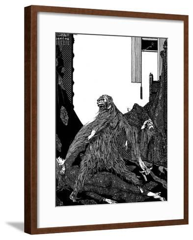 The Murders in the Rue Morgue-Harry Clarke-Framed Art Print