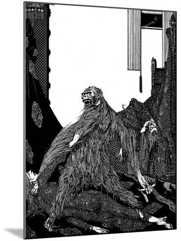 The Murders in the Rue Morgue-Harry Clarke-Mounted Giclee Print