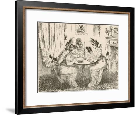 Tales of Wonder! Gillray Satire on the Taste for Gothic Novels-James Gillray-Framed Art Print