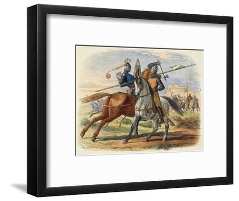 Before the Battle King Robert De Bruce VIII Kills Sir Henry De Bohun in Single Combat-James Doyle-Framed Art Print
