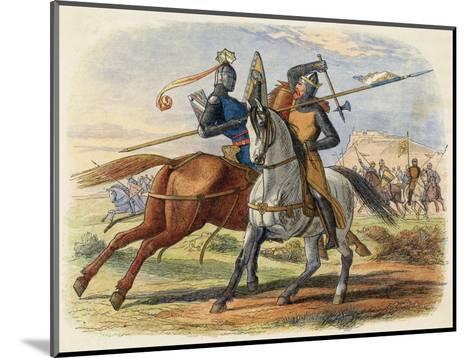 Before the Battle King Robert De Bruce VIII Kills Sir Henry De Bohun in Single Combat-James Doyle-Mounted Giclee Print