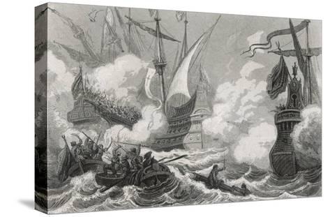Battle of Lepanto 1571- Gebhardt-Stretched Canvas Print