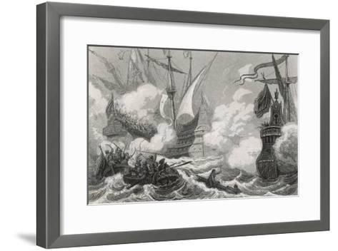 Battle of Lepanto 1571- Gebhardt-Framed Art Print