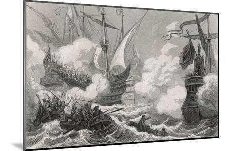 Battle of Lepanto 1571- Gebhardt-Mounted Giclee Print