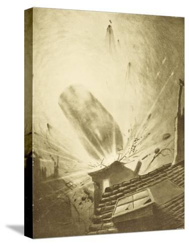 The War of the Worlds, The Fall of the Fifth Martian Cylinder-Henrique Alvim Corr?a-Stretched Canvas Print