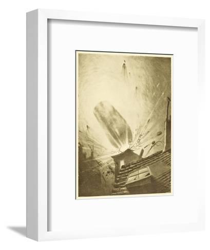 The War of the Worlds, The Fall of the Fifth Martian Cylinder-Henrique Alvim Corr?a-Framed Art Print
