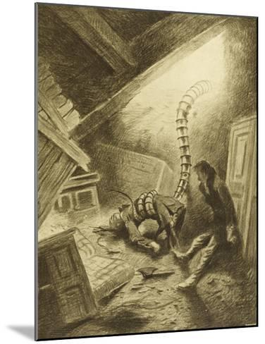 The War of the Worlds, a Martian Handling-Machine, Finds a Victim-Henrique Alvim Corr?a-Mounted Giclee Print