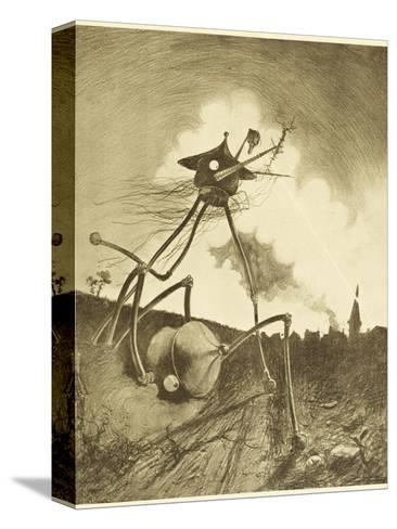 The War of the Worlds, a Martian Fighting-Machine in Action-Henrique Alvim Corr?a-Stretched Canvas Print